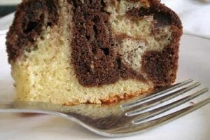 recette cake chocolat vanille