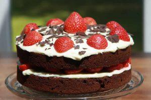 Recette gâteau au chocolat et fraises