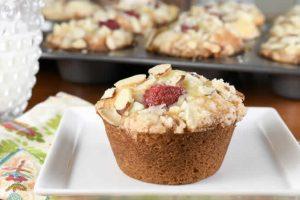 Recette muffins aux amandes et framboises