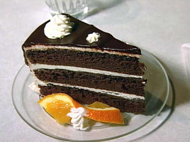Gâteau fondant au chocolat avec glaçage