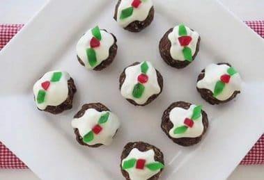 Petit pudding au chocolat de Noël