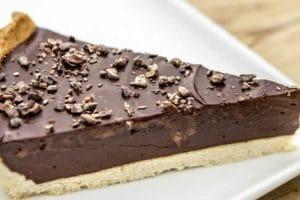 Recette de tarte au chocolat noir