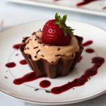 Dessert mousse chocolat à la crème